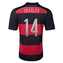 Germany 2014 DRAXLER Away Soccer Jersey