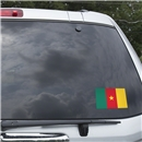 Cameroon Flag Graphic Window Cling