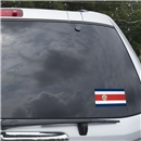 Costa Rica Flag Graphic Window Cling