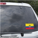 Ecuador Flag Graphic Window Cling