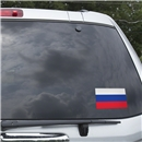 Russia Flag Graphic Window Cling