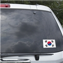 South Korea Flag Graphic Window Cling