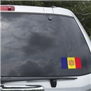 Andorra Flag Graphic Window Cling