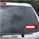 Austria Flag Graphic Window Cling