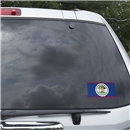 Belize Flag Graphic Window Cling