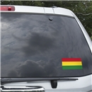 Bolivia Flag Graphic Window Cling