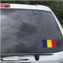 Chad Flag Graphic Window Cling