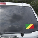 Congo Flag Graphic Window Cling