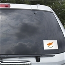 Cyprus Flag Graphic Window Cling