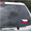 Czech Republic Flag Graphic Window Cling