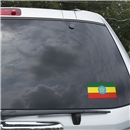 Ethiopia Flag Graphic Window Cling