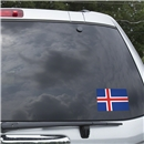 Iceland Flag Graphic Window Cling