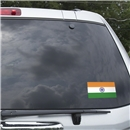 India Flag Graphic Window Cling