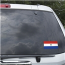 Paraguay Flag Graphic Window Cling