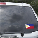 Philippines Flag Graphic Window Cling