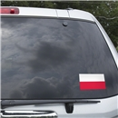 Poland Flag Graphic Window Cling