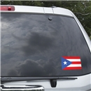 Puerto Rico Flag Graphic Window Cling