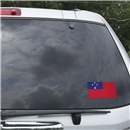 Samoa Flag Graphic Window Cling