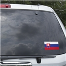 Slovakia Flag Graphic Window Cling