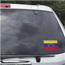 Venezuela Flag Graphic Window Cling