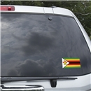 Zimbabwe Flag Graphic Window Cling