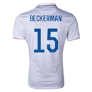 USA 2014 BECKERMAN Authentic Home Soccer Jersey