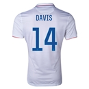 USA 2014 DAVIS Authentic Home Soccer Jersey