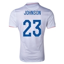 USA 2014 JOHNSON Authentic Home Soccer Jersey