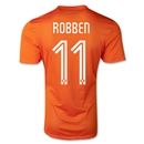 Netherlands 14/15 ROBBEN Authentic Home Soccer Jersey