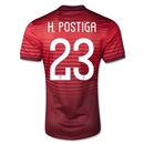 Portugal 2014 H. POSTIGA Authentic Home Soccer Jersey