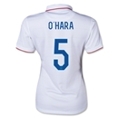 USA 2014 O'HARA Women's Home Soccer Jersey
