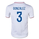 USA 2014 GONZALEZ Youth Home Soccer Jersey