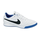 Nike Tiempo Genio Leather IC (White/Black/Treasure Blue)