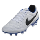 Nike Tiempo Legacy FG (White/Treasure Blue)
