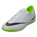 Nike Junior Mercurial Victory IC (White/Electric Green)