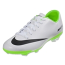 Nike Mercurial Veloce FG KIDS Cleats (White/Electric Green/Black)