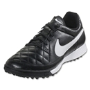 Nike Tiempo Genio Leather TF (Black/White)