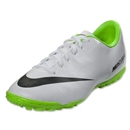 Nike Junior Mercurial Victory IV TF (White/Electric Green)