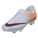 Nike Women's Mercurial Victory IV FG (White/Atomic Orange)