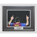 ICONS Leo Messi Signed Barcelona Photo 1 Game, 5 Goals (Framed)