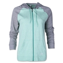 Under Armour Charged Cotton Women's Legacy Full-Zip Hoody (Gray/Green)
