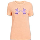 Under Armour Charged Cotton Women's Big Logo T-Shirt (Orange)