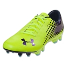 Under Armour Blur CBN IV FG (High Vis Yellow/Metallic Navy)