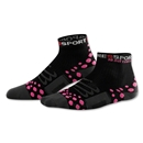 Compressport High Cut Racing Socks (Black/Pink)