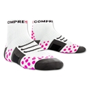 Compressport High Cut Racing Socks (White/Pink)