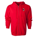 AC Milan Small Logo Full Zip Hoody (Red)
