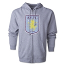 Aston Villa Distressed Full Zip Hoody (Gray)