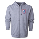 Ipswich Town Distressed Full Zip Hooded Fleece (Gray)