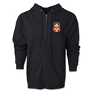 Monarcas Distressed Full Zip Hooded Fleece (Black)