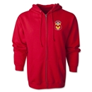 Monarcas Distressed Full Zip Hooded Fleece (Red)